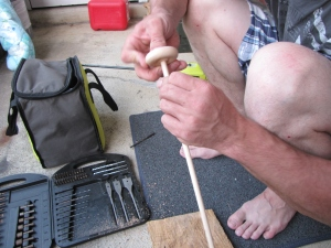 Making Ruth's Spindle 013